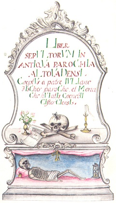 Záhlaví vyšebrodské Knihy zemřelých 1775-1847 se zápisem oopatově úmrtí v prosinci 1827