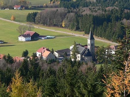 Thalberg na leteckém snímku