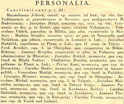 Diecézní list tu oznamuje v roce 1936 jeho ustanovení v Ronšperku (dnes Poběžovice) jako novokněze