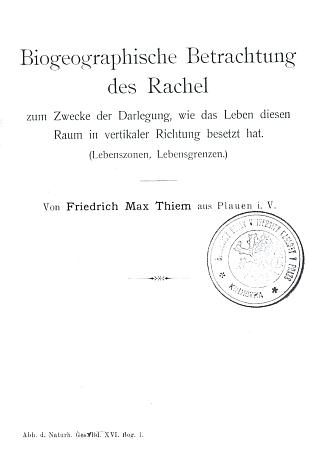 Titulní list jeho knihy s razítkem knihovny Botanického ústavu Univerzity Karlovy