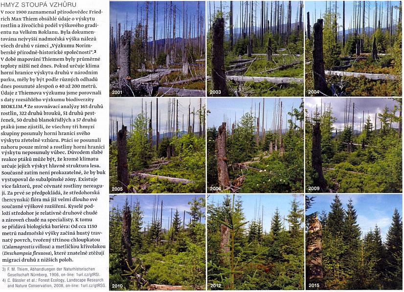 Tuto připomínku jeho práce doprovází série snímků o zmlazení vegetace bez zásahu člověka v Národním parku Bavorský les