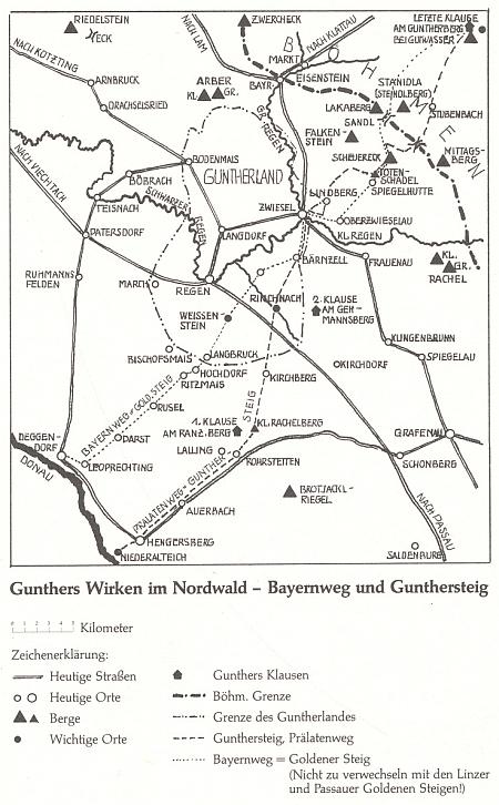"""... součástí knihy je pak i mapka Vintířova působení v """"Severním lese"""", na níž je dokonce vytyčena """"Guntherova země"""""""