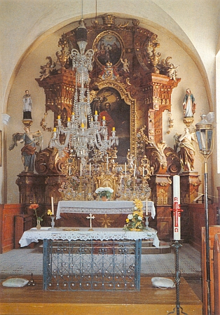 Oltář kostela v Ktiši (viz i Anton Geyer aJohann Weiss)