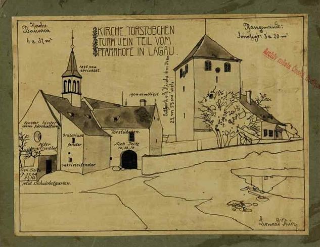 Jeho kresba slavkovské tvrze do školní kroniky (své křestní jméno píše Leonard) svědčí o nevšedním výtvarném nadání (viz i Josef Beraus)