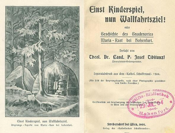 Frontispis a titulní list (1904) s autorovým věnováním převorovi