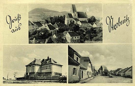Pohlednice Horní Stropníce zachytila i místní školu