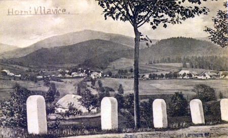 Rodná Horní Vltavice na staré pohlednici, ten český nápis je nejspíš dodatečný
