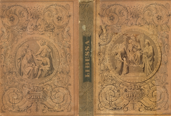 Obálka amanachu Libussa s otiskem jeho pamětí