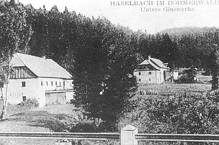 Engel Werk a Stiech Werk na pohlednici z Lískové