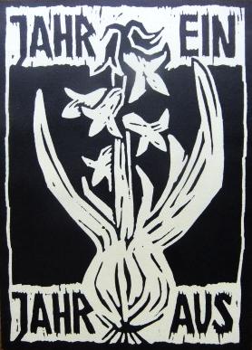 Obálka (1982) její sbírky básní se 13 autorčinými linoryty, vydané vlastním nákladem ve Würzburgu