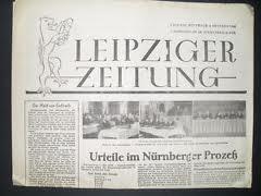 Záhlaví listu Leipziger Zeitung, který vycházel v sovětské okupační zóně