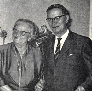 Se ženou o zlaté svatbě 14. května 1963 v Mnichově