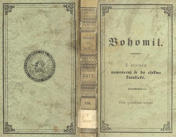 """Papírová vazba třetího """"rozmnoženého"""" vydání (1850)"""