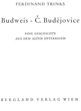Titulní list knihy (1960) vydané ve Vídni nakladatelstvím Bergland