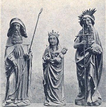 Soubor soch sv. Zachariáše, Panny Marie a sv. Jana Křtitele zinventáře kostela svědčí o jeho někdejším významu