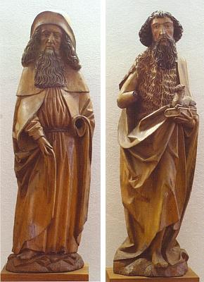 Dvě poškozené sochy tohoto souboru jsou dnes součástí sbírek Alšovy jihočeské galerie vHluboké nad Vltavou