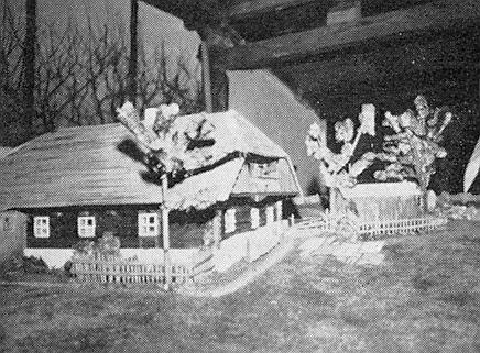 """Model usedlosti zvané """"Trömei-Haus"""""""