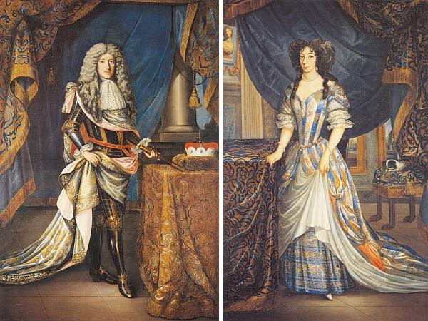 Dvě portrétní olejomalby z doby kolem roku 1680 zachycují manželský pár Jana Kristiána z Eggenberku aMarieArnoštky, dcery Jana Adolfa ze Schwarzenbergu