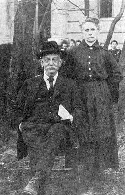 Heinrich Tschida se svou druhou ženou Theresií, roz. Fechterovou