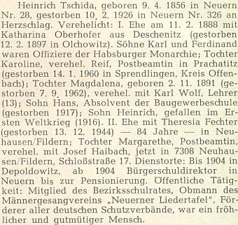 Podrobnější data o něm ze seznamu učitelů nýrského okresu podle stavu v roce 1921 s chybou v letopočtu úmrtí jeho druhé ženy (má být 1948)