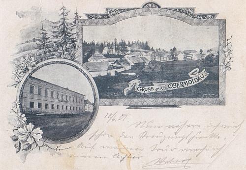 Horní Vltavice na staré pohlednici