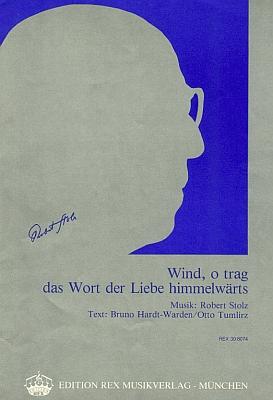 Píseň z opery Die Rosen der Madonna se stínovým profilem a podpisem Roberta Stolze, obálka (1920)