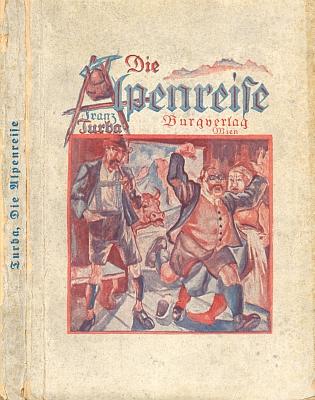 Obálka (1924) jedné z jeho knih, vydané nakladatelstvím Burgverlag