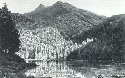 Hora Javor na obraze Karla Alexandera Flügela (viz i Helma Flügel-Fritscheová)