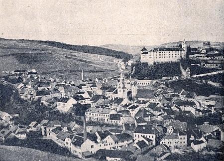 Vimperk koncem 19. století, ještě před velkým požárem z roku 1904