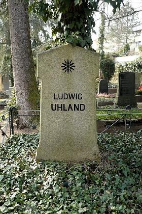 Hrob na městském hřbitově v Tübingen