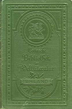 Vazba souborného vydání díla včetně sbírky Alte hoch- und niederdeutsche Volkslieder ve stuttgartském nakladatelství Cotta vletech 1865-1873