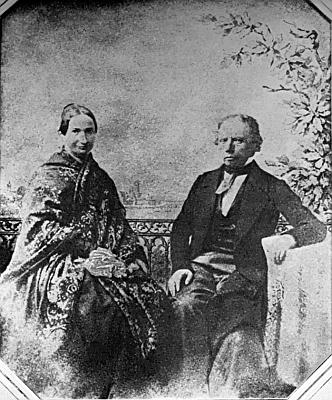 Se ženou Emilií na dnes ztracené talbotypii z roku 1846, naštěstí vroce 1941 ofotografované