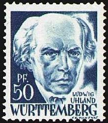 Na poštovní známce francouzské okupační zóny Württemberg zroku 1948
