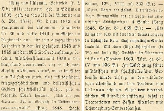 Jeho medailon ve Wurzbachově Biografickém lexikonu císařství rakouského