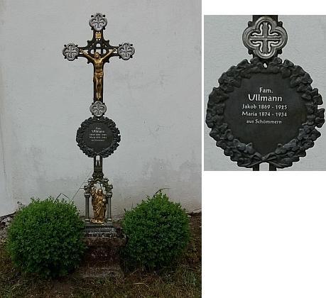 Hrob rodiny Ullmanovy ze Všeměr na hřbitově v Zátoni