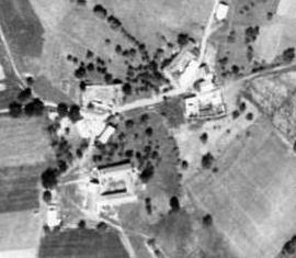 Vojtín na leteckých snímcích z let 1952 a2011