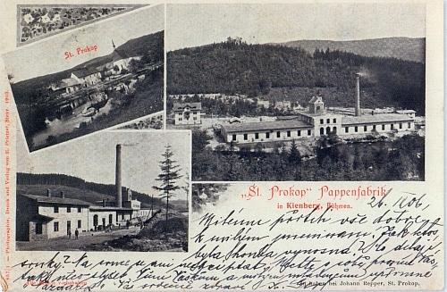 """""""Složená"""" pohlednice z Loučovic, na které je """"Svatý Prokop"""""""