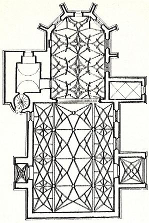 Půdorys rožmberského kostela