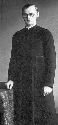 Jako mariannhillský klerik v roce 1936