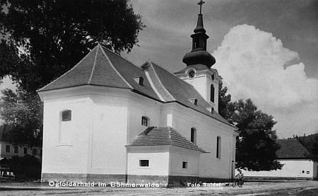 Jablonecký kostel Nalezení svatého Kříže na dalším Seidelově snímku