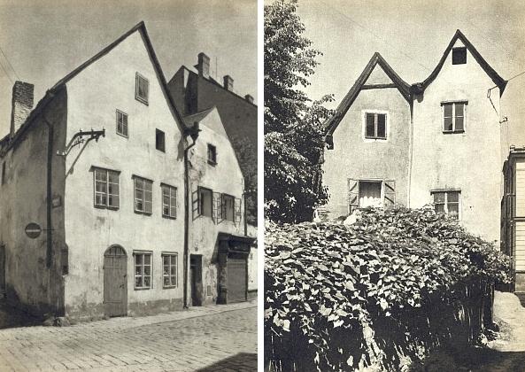 Rohový dům na konci Kněžské ulice, křižující se tu s Hradební, také blízce sousedil s Urbanovým - vsedmdesátých letech 20. století byl stržen...
