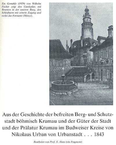 Záhlaví jeho textu s reprodukcí obrazu Wilhelma Fischera z roku 1929...