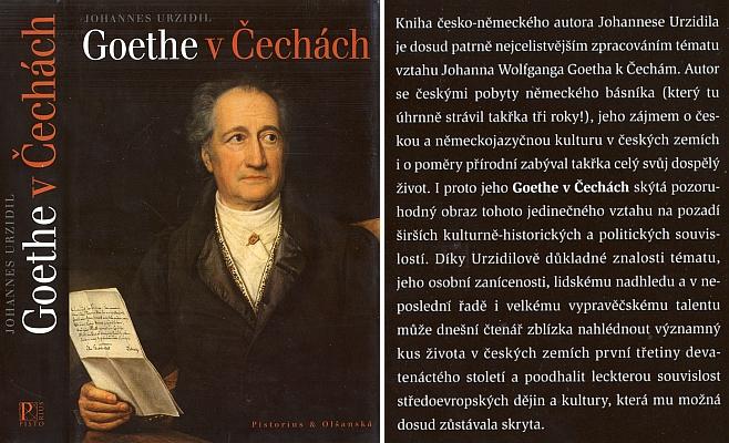 Obálka (2009) velmi opožděného překladu jeho knihy Goethe v Čechách (německy první vydání 1932) vpříbramském nakladatelství Pistorius & Olšanská