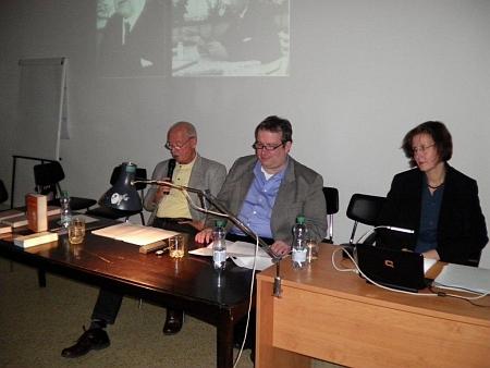 ... konkrétně (zleva) Gerhard Trapp, Klaus Johann a Vera Schneiderová