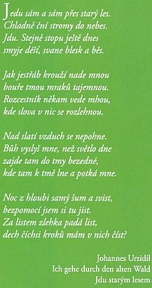 V knize Jitky Maršálkové z roku 2018 byla tato báseň otištěna bez poznámky, že jde o český překlad (natožpak že je zkopírován z webových stránek Kohoutího kříže)