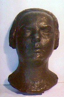 Busta Gertrude Urzidilové z roku 1928 od sochaře Karla Vogela (1897-1961)