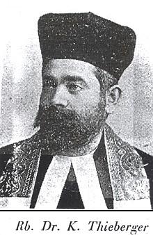 Její otec, rabín Dr. Karl Thieberger