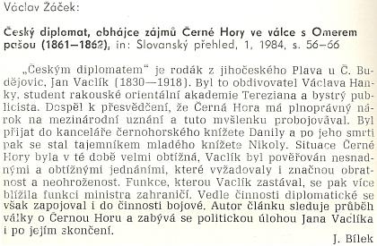 Recenze článku o něm ve Slovanském přehledu