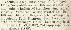 Jeho heslo v Masarykově slovníku naučném