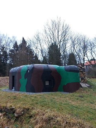 Rekonstruovaný bunkr v Křenově